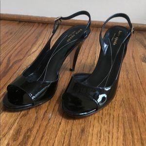 Kate Spade Black Peep Toe Heels